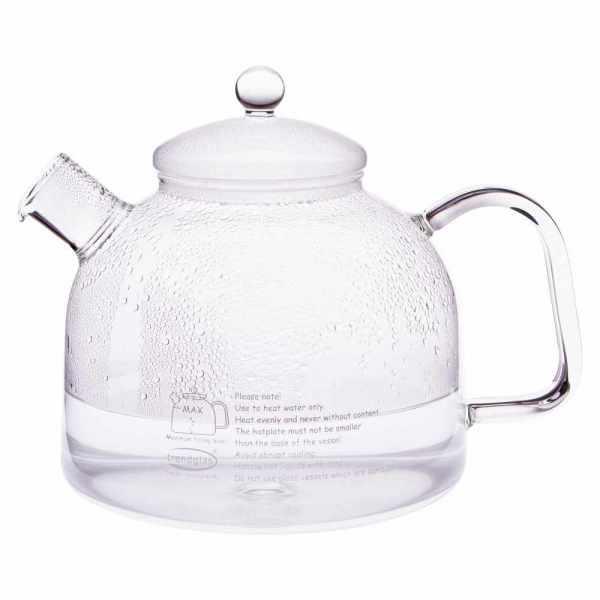 Wasserkessel aus Glas mit Deckel aus Glas