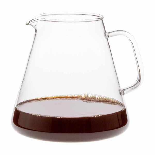 hitzebeständige Glaskanne aus Borosilikatglas