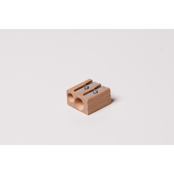 Bleistiftanspitzer doppelt aus Holz