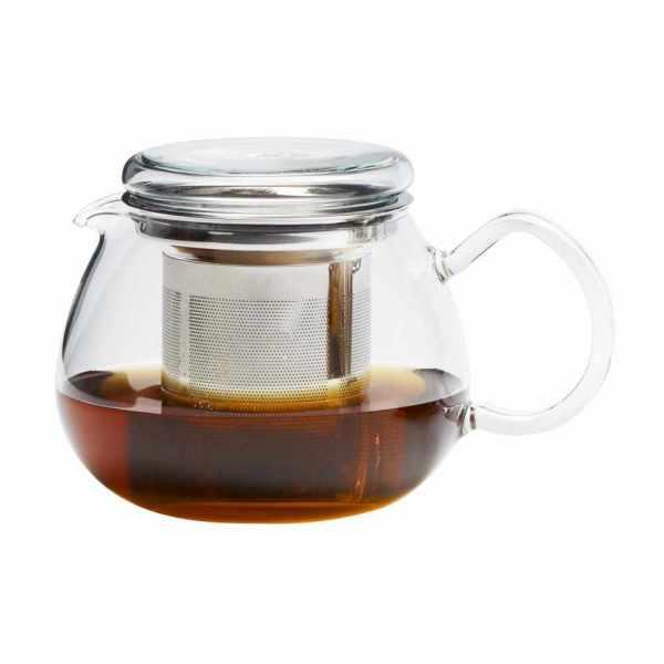 Teekanne aus Glas mit Edelstahlfilter 0.5 Liter