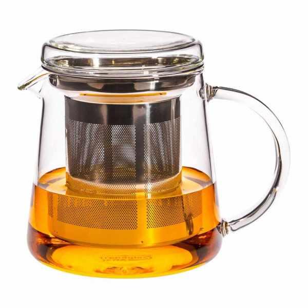 Teekanne aus Glas mit Edelstahlfilter 0.4 Liter