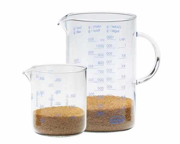 Messbecher Set Glas 1.0 + 0.5 Liter
