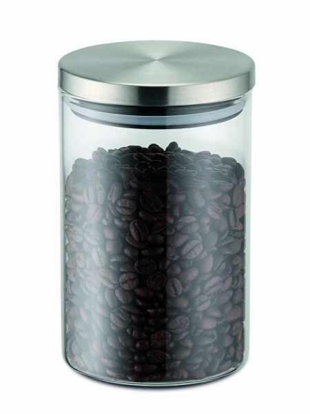 Vorratsdose aus Glas 0.8 Liter mit Edelstahldeckel