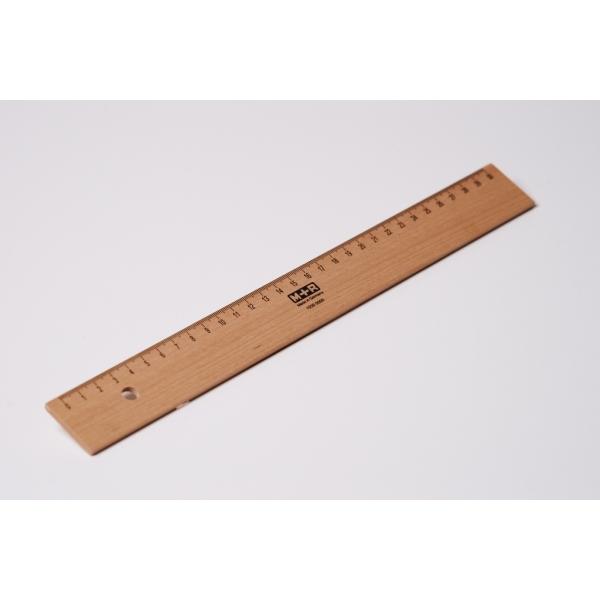 Holzlineal Buche 30 cm