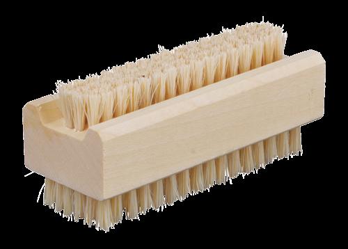 Nagelbürste aus unbehandeltem Ahornholz helle harte Borste