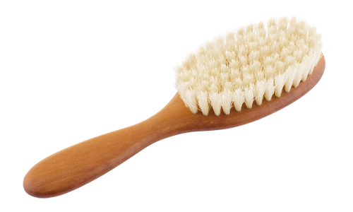 Haarbürste aus geöltem Birnbaumholz